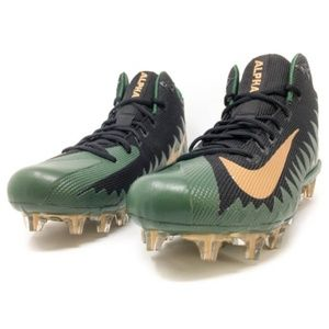 Nike Alpha Menace Pro Mid  Green Black Gold
